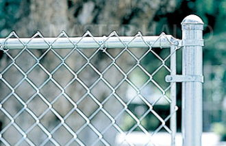 Elegant Black Metal Chain Link Fence